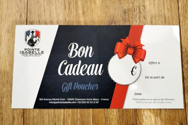 Gift voucher for a stay in Chamonix
